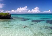 真夏のフナクスビーチ