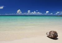 夏空の前浜ビーチ