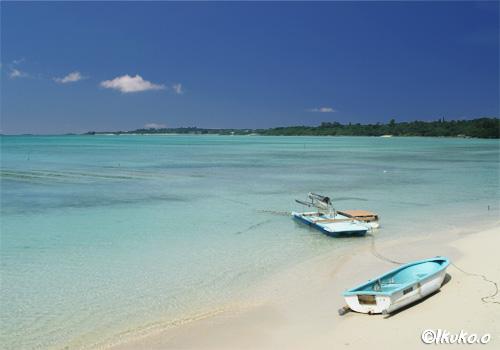 大浦湾沿いの小さな砂浜