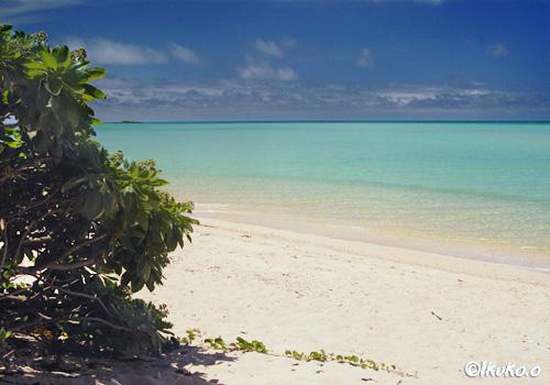 与那覇湾沿いのビーチ