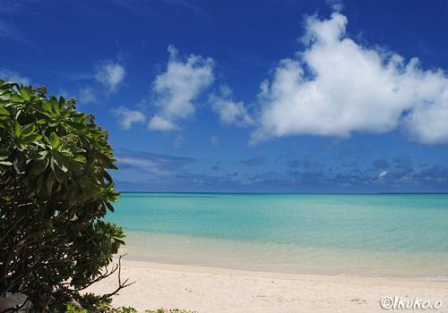海とモンパと白い雲