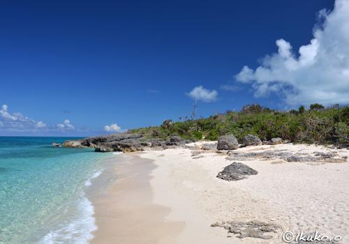 来間島の小さな浜