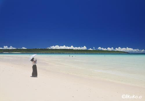 真夏の前浜ビーチ