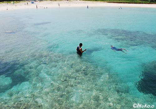 透き通ったブルーの海