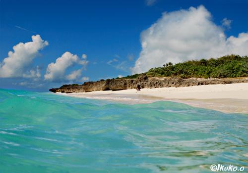 海から見た長間浜