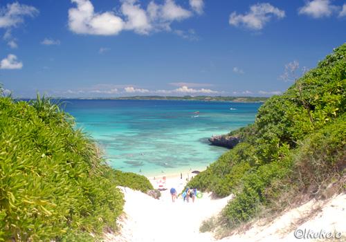 ビーチへ続く砂丘の道