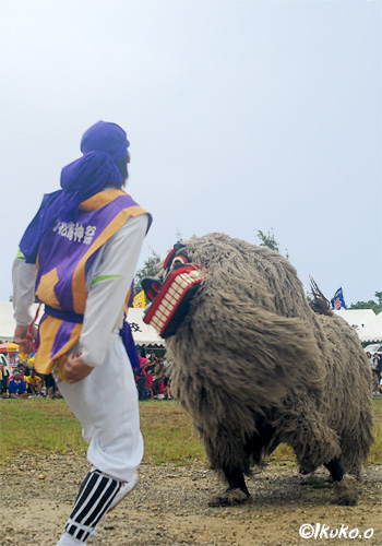 久松海神祭の獅子舞