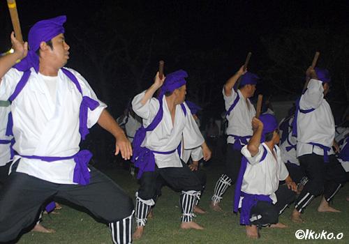 統制の取れた踊り