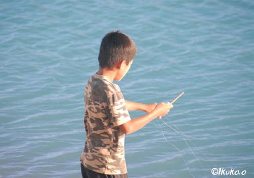 手製の釣竿