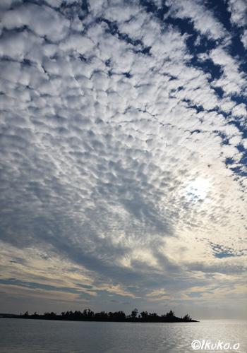 海の上のうろこ雲