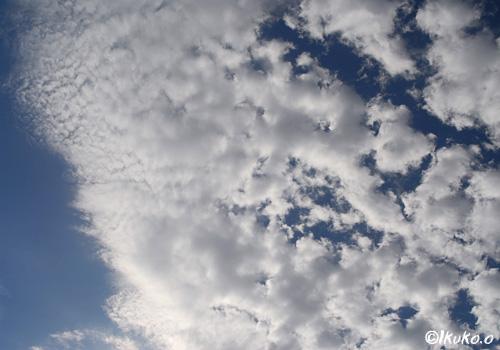 風に飛ばされる雲
