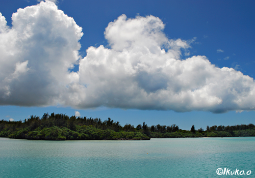 漁港に浮かぶ雲