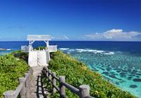 サンゴ礁の海と展望台