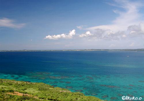 牧山展望台から見える海