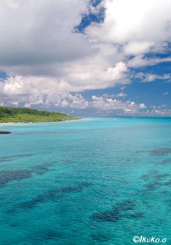来間島と青い海