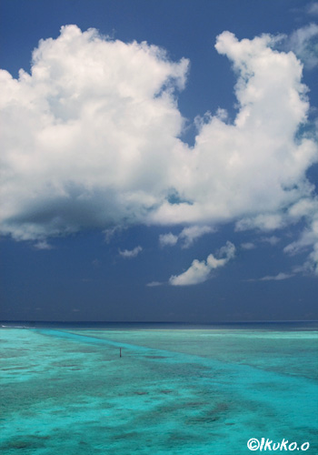 海の上に浮かぶ雲