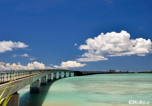 建設中の伊良部大橋