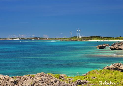 遠くに見える風車