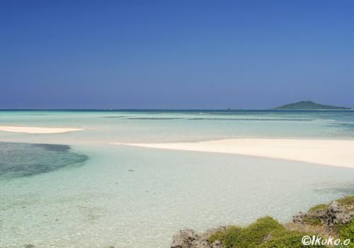 引き潮でできた砂洲