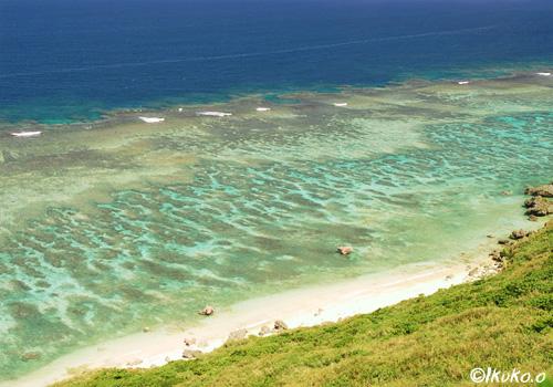外洋のブルーと珊瑚礁