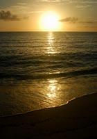 長間浜の夕陽