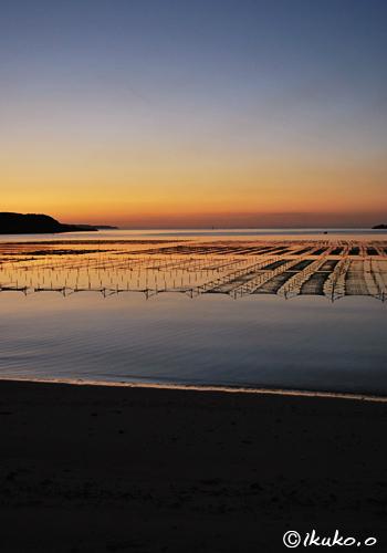大浦湾の夕暮れ