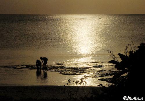 イキズービーチの夕暮れ