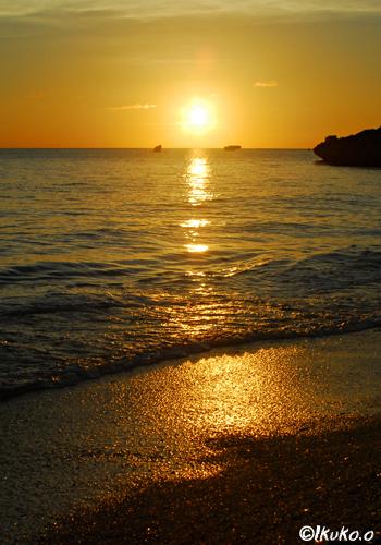輝くビーチ